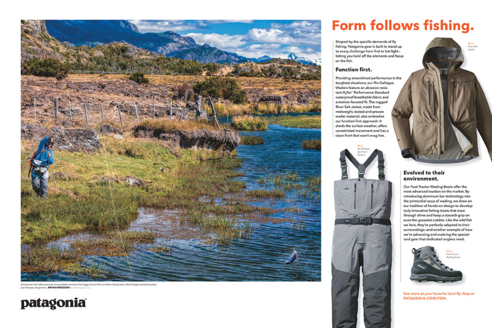 Patagonia fly fish catalog 2017 bryan gregson photography for Fly fishing catalog